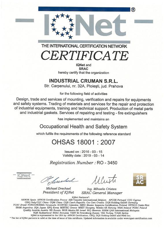 OHSAS 18001 : 2007