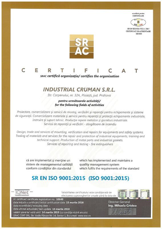 SR EN ISO 9001 2008
