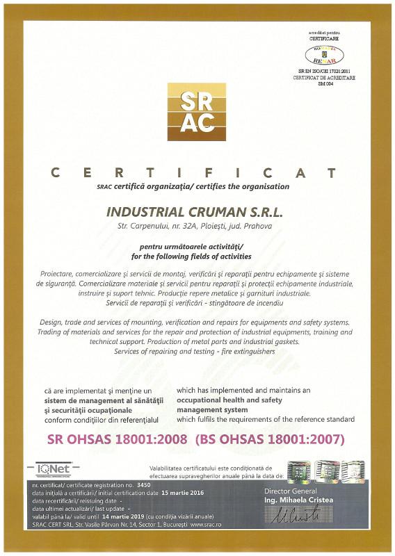 SR OHSAS 18001:2008
